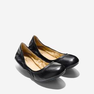 COLE HAAN Manhattan Ballet Flats Black Leather 7
